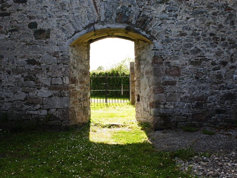 Front door entrance of Milltown Abbey, Kerry