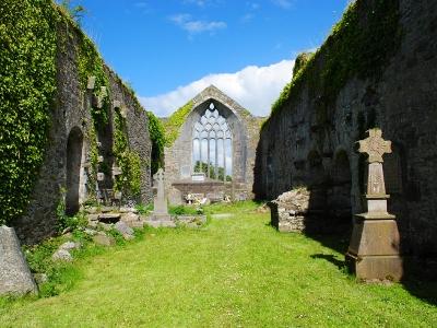 Inside view of Milltown Abbey, Kerry