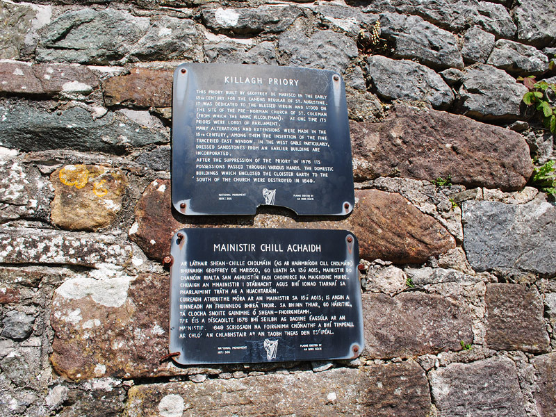 Plaque at Milltown Abbey