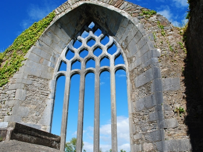 View of what was the stain glass window of Milltown Abbey