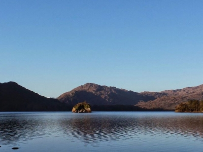 Looking at Purple and Tomies from Muckross Lake