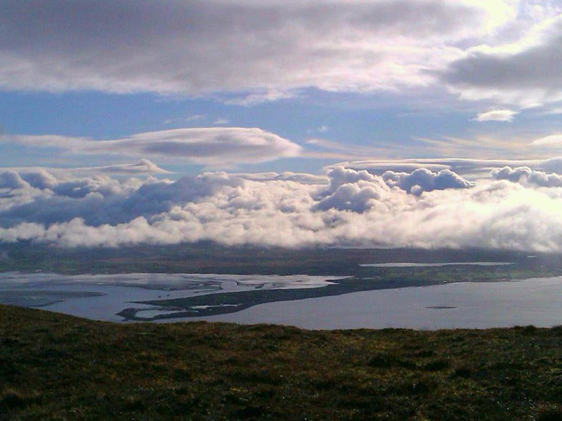 View onto Cromane from the Sliabh Mish Mountains