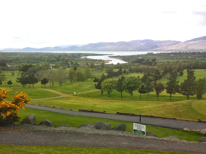 View overlooking Killorglin Golf Course, with Sliabh Mish Mountains set in the background