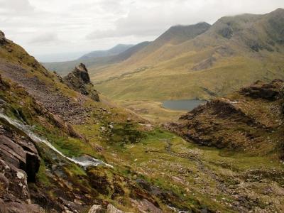 Looking back down towards the Hag's Glen