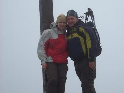 Ann Marie and Richard on the summit of Carrauntoohil