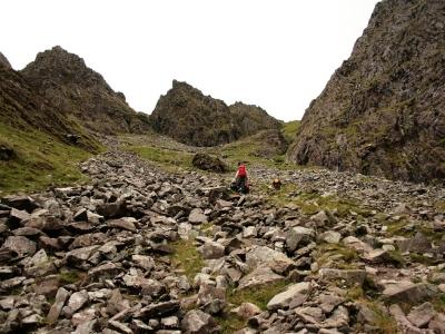 Heading towards Brother O'Sheas Gully (on the left)