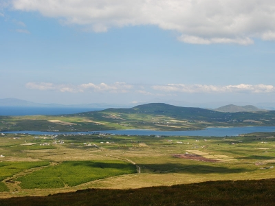 View from top point on the Skellig Ring